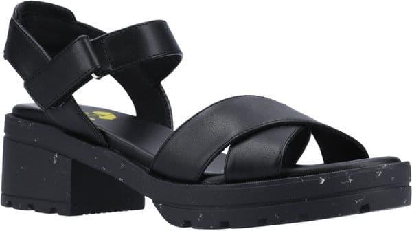 Rocket Dog Luca Recycled PU Sandal Ladies Summer Black